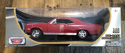 1967 Chevrolet Chevelle SS 396 Amber Red 1/18 Diecast Model Car by Motormax
