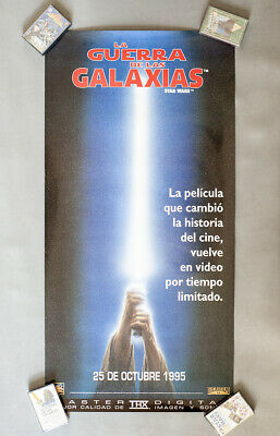 1995 Star Wars spanish THX VHS video release advertisement promotional poster