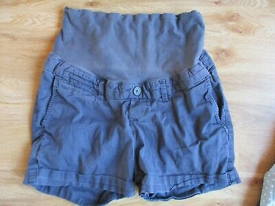 H&M Mama Maternity Navy Over Bump Chino Shorts Size 10