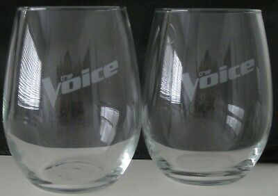 The Voice Nbc Official Promotional Promo 2 Wine Glasses Unstemmed Bnib New!!
