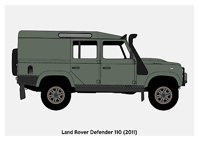 Photo Picture Poster Print Art A0 A1 A2 A3 A4 LAND ROVER 12 AD118 CAR POSTER