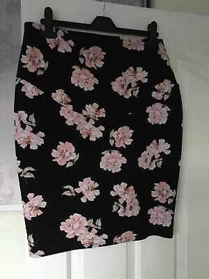 New Look Floral Maternity Skirt Size 12