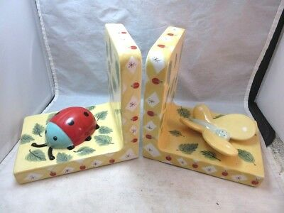 House of Hatten kids room bookends. Butterfly, lady bug