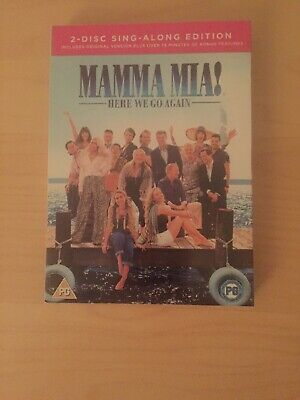 Mamma Mia! Here We Go Again DVD – 2-Disc Sing-Along Edition  New And Sealed