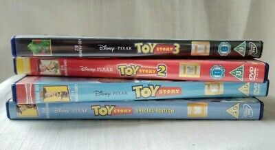 Collection of 4x Toy Story DVDs