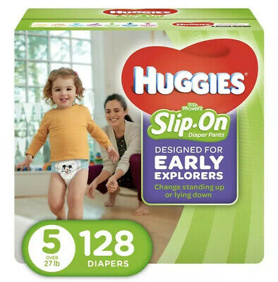 Little Disposable Diapers Movers Slip On Pants, Size 5, 128 Count Pañales Bebe
