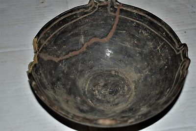 "ORIG $399. PRE COLUMBIAN MAYAN FIGURED BOWL,preclassic 10"" PROVENANCE"