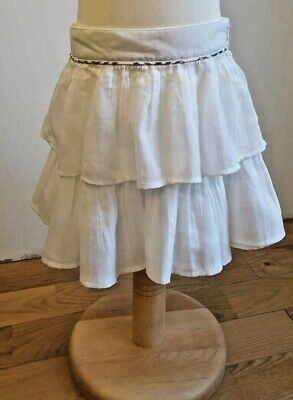 Authentic Designer Burberry White Cotton Skirt Age 5 Years