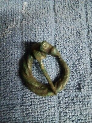 Viking bronze fibula - anthromorphic dragon - 800-1100 AD