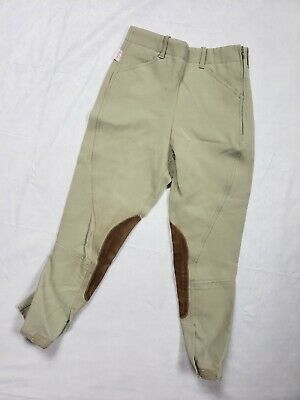 Tailored Sportsman Royal Hunter Youth Equestrian Breeches Pants Sz 8 Beige #3941