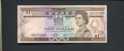 Fiji $1 one dollar Banknote note paper C/2  J-956