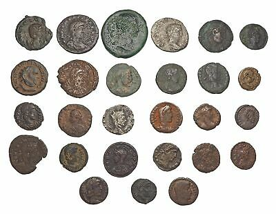 Nice lot of 27 Ancient Roman Coins, lots of variety