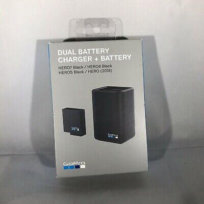 GOPRO AADBD-001 DUAL BATTERY CHARGER + BATTERY (Hero 5/6/7 Black) AUTHENTIC NEW