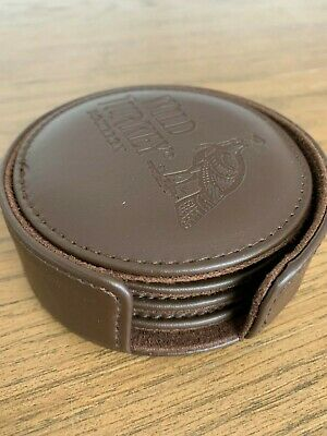 WILD TURKEY Bourbon Leather Coasters x 4 - Brand New
