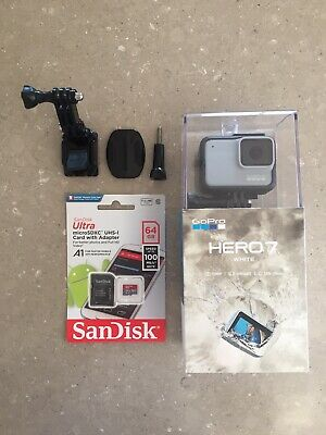 GoPro HERO 7 Camera Waterproof Touch Screen White + SD Card & Extra Accessories