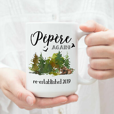 Pepere Again Mug Pregnancy Reveal Gift For Grandparents Baby Announcement Coffee