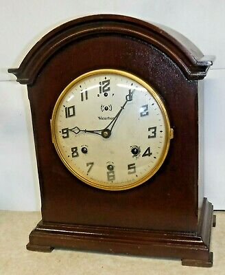 ANTIQUE 8 DAY WATERBURY WESTMINSTER CHIME CLOCK No.903 MANTEL WORKING AS-IS