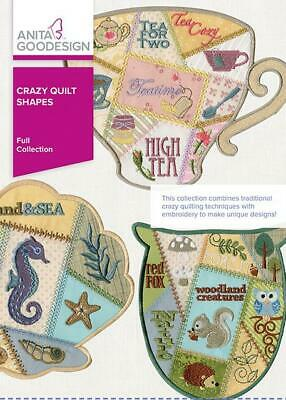 sealed Anita Goodesign Christmas Crazy Quilt Blocks Embroidery Designs CD