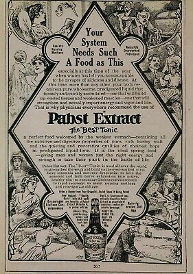 Vintage 1900's Pabst Extract Quack Medicine Print Ad Advertisement