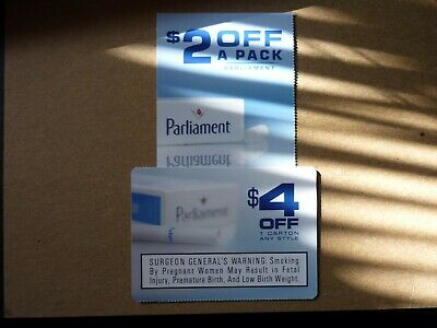 Parliament Coupons-1 $2 Off Pack/1 $4 Off Carton-Expire 1/31/2020-Total $6.00