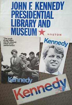 RARE Robert Kennedy Authentic Presidential 1968 Campaign Kit- AS NEW