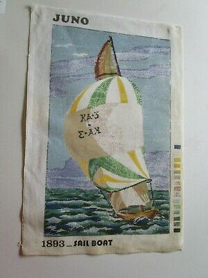 Sail Boat Tapestry To Stitch By Juno 1893. No Wool Or Needle