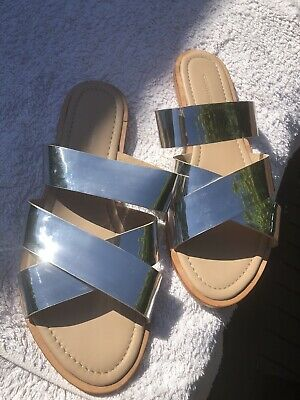Country Road Silver Slide - Size 39