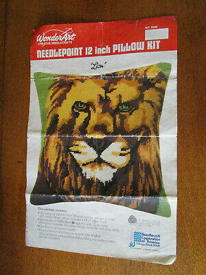 Wonderart Vintage Needlepoint 12Inch (30Cms) Pillow Kit Of A Lion's Head
