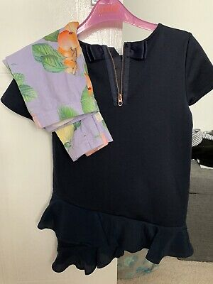 Stunning Girls Ted Baker Outfit💕Tunic & Leggings💕Aged 6-7💕Excellent Condition