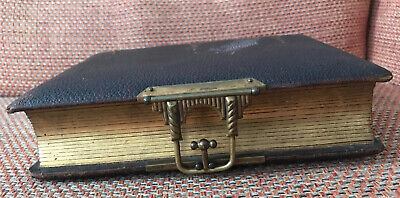 Antique Victorian Photo Album Vintage Leather Bound Including Old Pictures X45