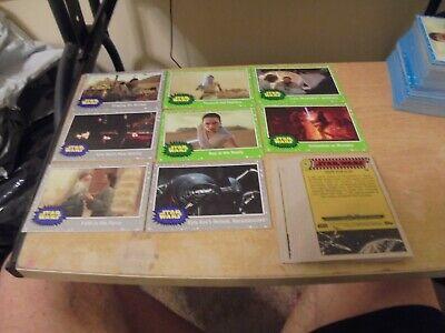 2019 Topps  Star Wars Rise of Skywalker  20 Card Lot of Green /Silver Parallel