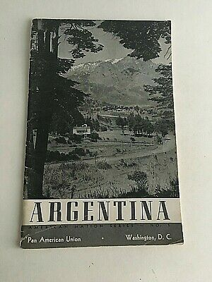 Vintage Visitor's Guide Tourism Argentina History American Nation Series 39 pgs