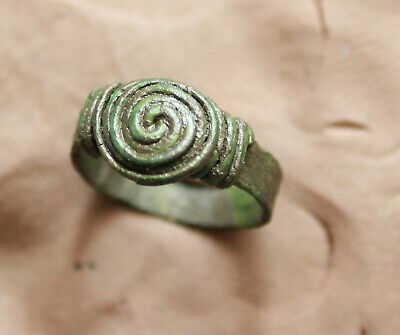 Ancient Celtic Bronze l ring Dsize =17mm  2,4g Nice Quality