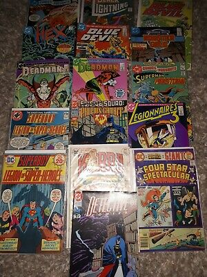 Job Lot Bronze Age Dc Comics 16 Batman Superman Etc.