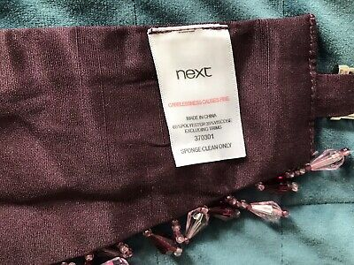 Next Pair Of Aubergine Beaded Faux Silk Tie Backs Unused