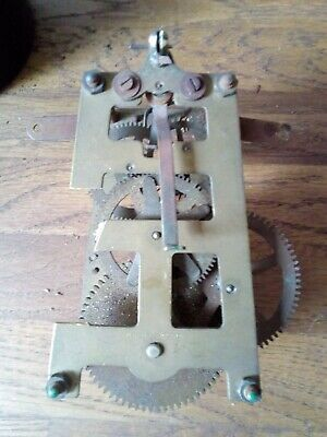 Vintage Made In England Chime Clock Movement ( spares or repair only)