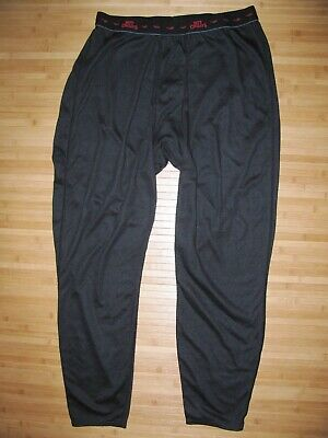 HOT CHILLYS Black THERMAL PANTS Size XL Polyester LONG JOHNS Base LAYER Bottoms