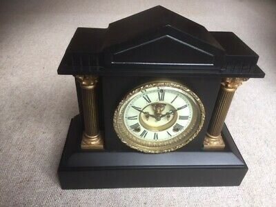 Ansonia Cast Iron 8 Day Strike Mantle Clock