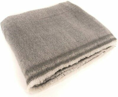 """Made in Nepal 56/""""X102/"""" High Quality Cashmere Mediation Blanket Travel Throw"""