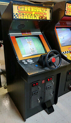 Great 1000 Mine Rally Full Size Arcade Stand Up Driving Game! Works Great! #2
