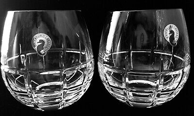 New Waterford 'Cluin' Stemless Balloon Red Wine Glasses, Set of 2
