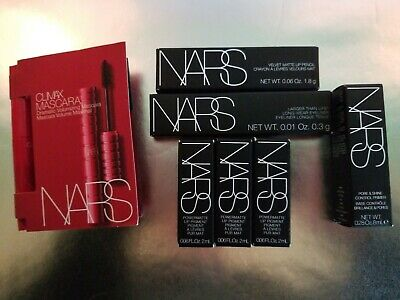 Nars makeup lot of 7 Lip Products Pro-primer Eyeliner travel sizes