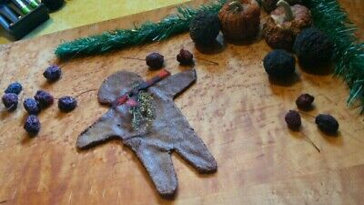 PRiMiTiVE Gingerbread Man Spiced Flatty GB Man Christmas Ornie HM Small  Ornie