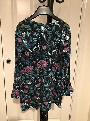 Beautiful NEXT Size 6-7 Years (116-122cm) Floral Print Tunic/Dress VGC!