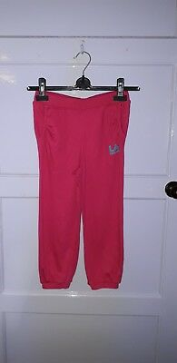 Girls La Gear Cropped Joggers Pink 9 - 10 Years