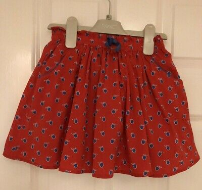 Beautiful NEXT Size 4-5 Years (up to 110cm) Red Apple Print Skirt VGC!!!
