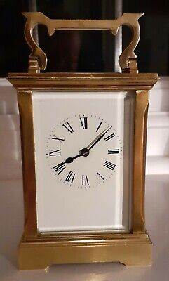 Vintage 8 Day Classic Brass Timepiece Carriage Clock Platform Escapement