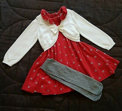 Girls Next Dress, M&S Bolero, Tights Outfit 2-3 Years