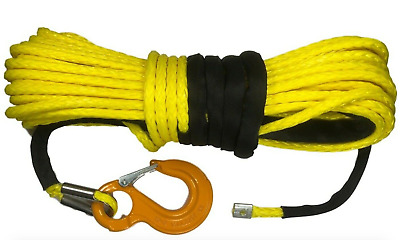 10mm or 11mm YELLOW Synthetic winch rope Dyneema SK75
