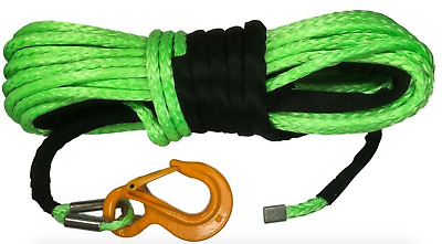 10mm or 11mm GREEN Synthetic winch rope Dyneema SK75